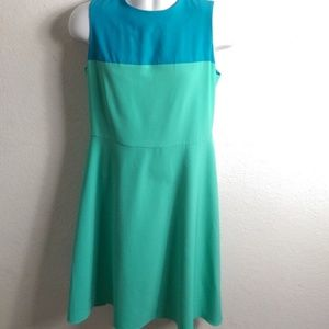 Tommy Hilfiger A-Line Dress Sz. 10 Blue Green